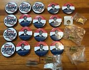 Big Lot Of 23 Nice Obama For President Picture Campaign Button And Pin Udall Pin