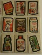 1974 Wacky Packages Stickers Series 7 Set Of 33 Plus Checklist Puzzle Set