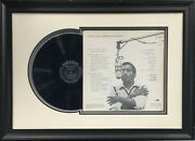 Sammy Davis Jr Signed Mood To Be Wooed Record Album Cover Framed Autograph Psa