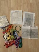 Large Lot Floss Embroidery Materials Including Patterns And Yarn