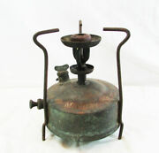Antique Brass Camping Gas Stove Oil Burner Portable Stove