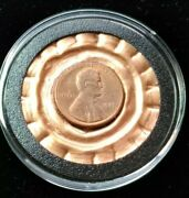 Extra Lucky 1987 Nice Birthday Penny On Embossed Copper In Acrylic Capsule