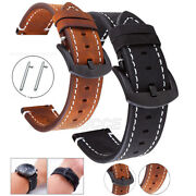 For Samsung Galaxy Watch 46mm Accessories Genuine Crazy Horse Leather Wristband