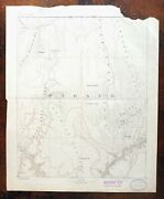 Mount Trumbull Grand Canyon Arizona Strip Antique Usgs Topographic Map 1892