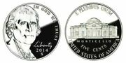 2014 P D S Bu And Proof Jefferson Nickels From Original Bank Rolls And Proof Sets