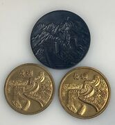 Vintage Chinese Souvenir Climbed Great Wall Medals - 81445