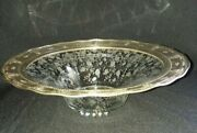 Rare Wallace Sterling Silver And Cambridge Glass Rose Point 13 Centerpiece Bowl