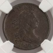 1806 Draped Bust 1/2c Small 6 No Stems C-1 Ngc Certified Ms62 Bn