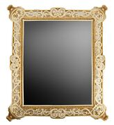 Jay Strongwater Vanity Plateau Tray Smoked Mirror Crystals
