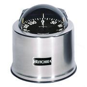 Ritchie Sp-5-c Globemaster Compass Pedestal Mount Stainless Steel 12v 5 Degree