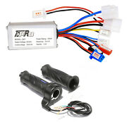 24v 250w Brush Motor Electric Speed Control Led Throttle Grips Bicycle Scooter