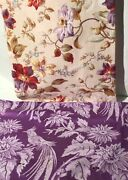 Antique Vintage French Fabrics Coordinated Bundle For Projects Floral Purple