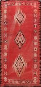 Antique Authentic Moroccan Vegetable Dye Area Rug Hand-knotted Wool Tribal 5and039x9and039