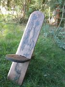 Designer Viking Stargazer Chair. Solid Red Wood Hand Crafted Christmas Silver