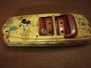 Hake's 1950's Rare Disney Parade Roadster Wind Up Car Toy Antique Collectible