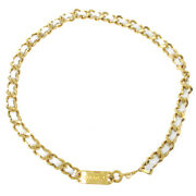 Cc Logos Charm Gold Chain Belt Accessories 95a Authentic 32816