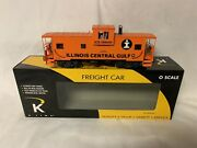 ✅k-line By Lionel Illinois Central Gulf Smoking Caboose For Diesel Engine Smoke