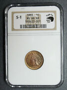 Snow 1 1883 Ngc Ms66rb Indian Head Cent S1  Photo Seal