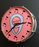 Leedy Drum Wall Clock W. Vintage Seeburg Front Hand Crafted In Usa One-of-a-kind