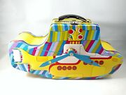 Yellow Submarine Lunch Box Clock New Metal Collectible Decor Handcrafted In Usa