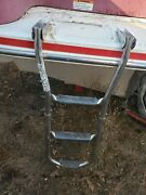 Folding Transom Boarding Ladder Only Off 1994 Chris Craft 248 Parting Out