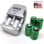 4pc 800mah 3v Cr2 Cr17355 Cr15270 Dlcr2 Lithium-ion Rechargeable Battery+charger