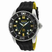 Menand039s Watch Grand Diver Automatic Dive Black Dial Silicone Strap 20199