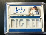 🔥 2020 National Treasures Dustin May Dodger Signature Names Jersey Auto /49 Rc