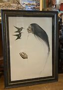 Frank Howell Two Sisters Signed And Num. Original Lithograph Hummingbirds 1984