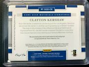 🔥 2020 National Treasures Clayton Kershaw Game Used Jersey Auto 1/1 Dodgers