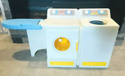 Little Tykes Vintage Plastic Washer Dryer Play Set W/ Ironing Board Pretend Toy