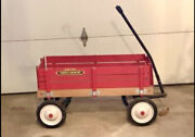 Vintage Radio Flyer Town And Country Wagonredearly 80swood4 Removable Sides
