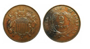 1864-1873 Two Cent Piece - Only One Of Its Kind