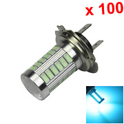 100x Ice Blue Rv H7 Tail Blub Front Lamp 33 5630 Smd Led Iec7004-5-1 H166
