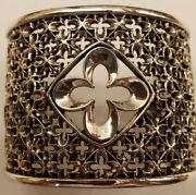 Queen Baby Relic Cross Cuff Sterling Silver 925 Bracelet King Baby Gorgeous