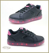Shoes Geox Girl Sneakers From Baby With Led Lights Coloured Bright Cable