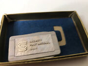 Vintage Money Clip -security First National City Bank In Box