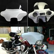Detachable Abs Batwing Headlight Fairing 6x9 Speakers For Harley Road King Flhrc