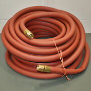 Reelcraft Coupled Air Hose Assembly 602415-100 1 X 100and039 Pvc 250 Psi Red