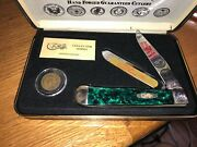 Very Rare Vintage Case Collector Knife W/indian Head 1906 Coin 34