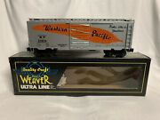 ✅weaver Western Pacific 40andrsquo Ps-1 Box Car W/ Lionel Type Couplers O Scale Train