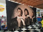 Bee Gees Wall Art - Huge 20and039 X 8and039 One Of A Kind Custom For Museum Andy Gibb Wow