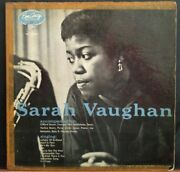 1954 Sarah Vaughan Lp Emarcy Records Mg36004 Clifford Brown