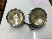 Pair Vintage Early Cowl Lamp Lights Old Auto Automobile Car Fender 1920and039s 1930and039s