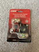 Exide New Top Battery Terminals Protected Color Coated Car, Truck, Boat,tractor