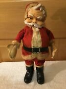 Wow Unusual Vintage Rubber Faced Santa Boots Christmas Ornaments Decoration Doll