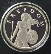 2015 5 Oz .999 Pure Silver Shield Proof Standing Freedom Girl Round Coin Bullion