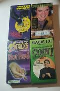 Magic Trick Vhs Video Tapes Lot Of 4 New Sealed Magician Coin Hot Rod Watch