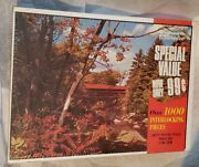 Vintage Woolworth Woolco Puzzle Covered Bridge 1000 Pieces Warren Built Rite