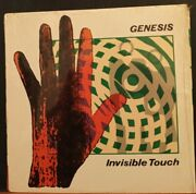 1986 Genesis Invisible Touch Vintage Embossed Cover Vinyl Lp Record Rare
